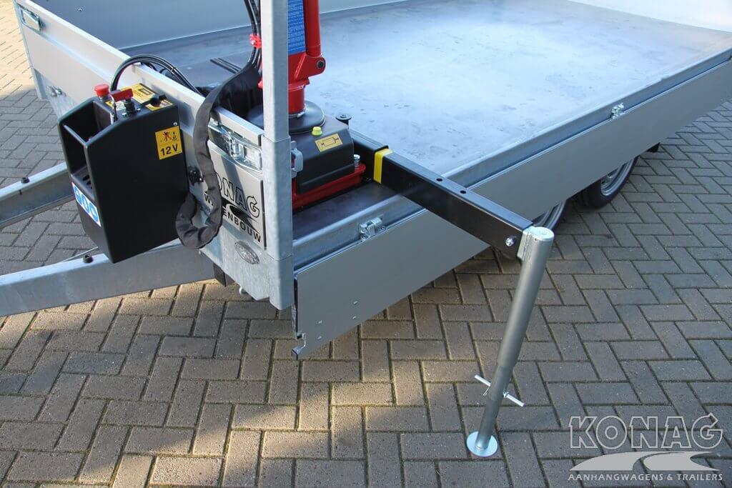 Ifor Williams HB403 1,5 paardstrailer frontuitstap