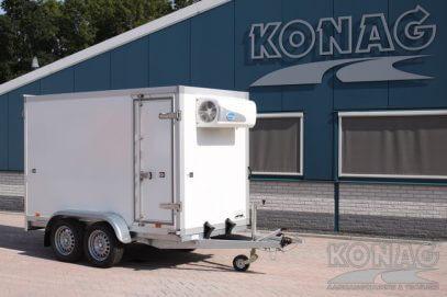 Koelaanhangwagen Konag tandemas voorzien van zijdeur