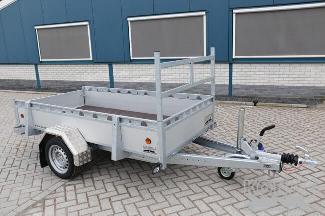 Proline enkelas bakwagen aluminium 250x130 voorzijde