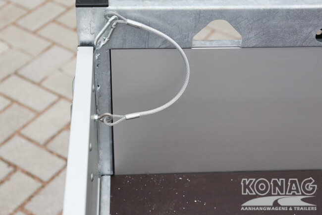 Proline enkelas bakwagen aluminium met geïntegreerde sluitingen