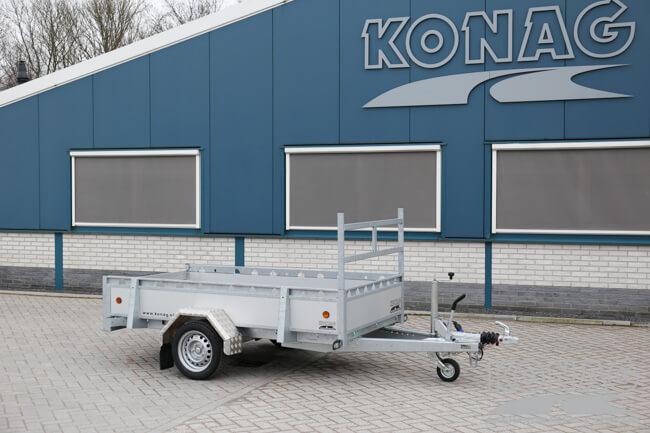Proline enkelas bakwagen aluminium 250x130