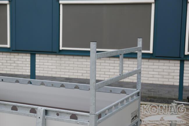 Proline enkelas bakwagen aluminium 250x130 voorrek