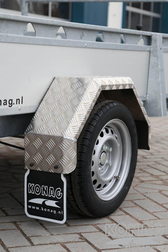 Proline enkelas bakwagen aluminium 250x130 spatborden