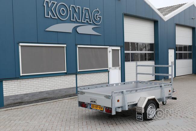 Proline enkelas bakwagen aluminium 250x130 achterzijde