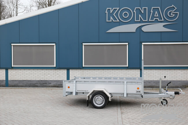 Proline enkelas bakwagen aluminium 250x130 overzichtsfoto