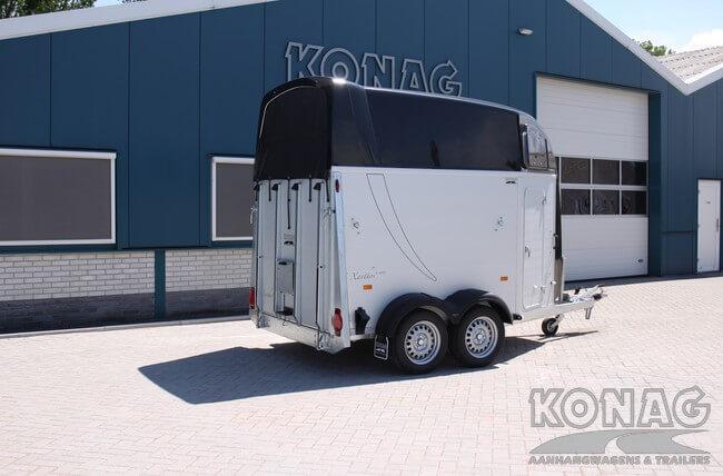 Humbaur Xanthos Aero 2 paardstrailer achterzijde