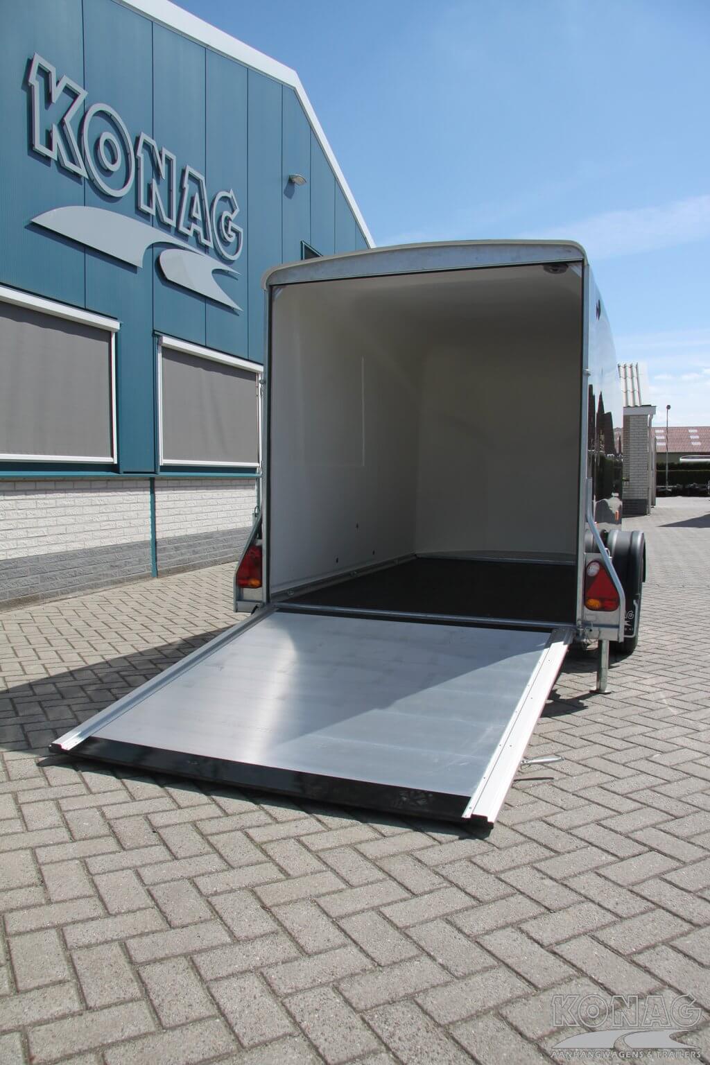 Deur/klep combinatie van bagage aanhangwagen