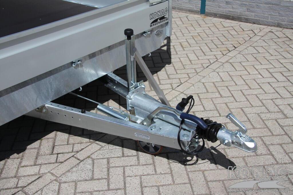 Proline tridemas plateau-aanhangwagen 500 x 220 v dissel