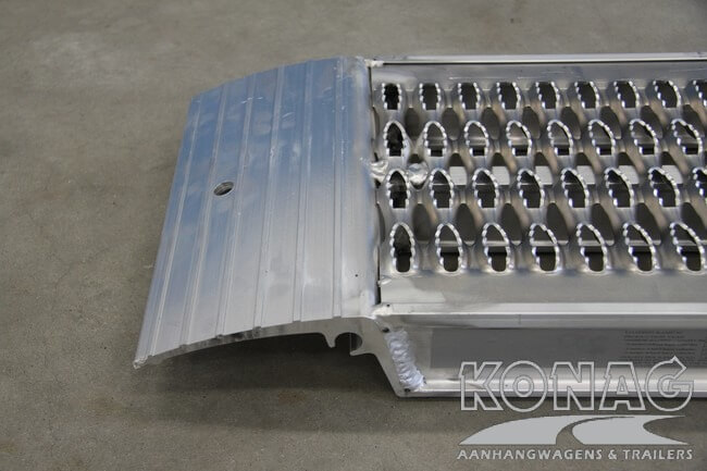 Bovenzijde aluminium oprijplaten Proline