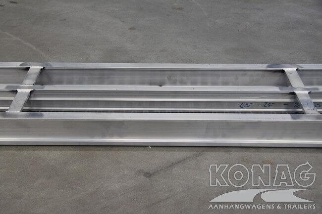 Onderzijde aluminium oprijplaten Proline
