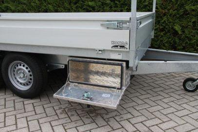 Aluminium gereedschapkist voor aanhangwagen