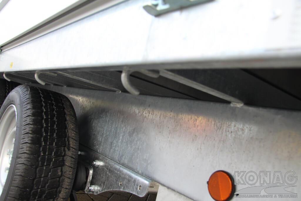 Proline tandemas plateauwagen 600 x 200