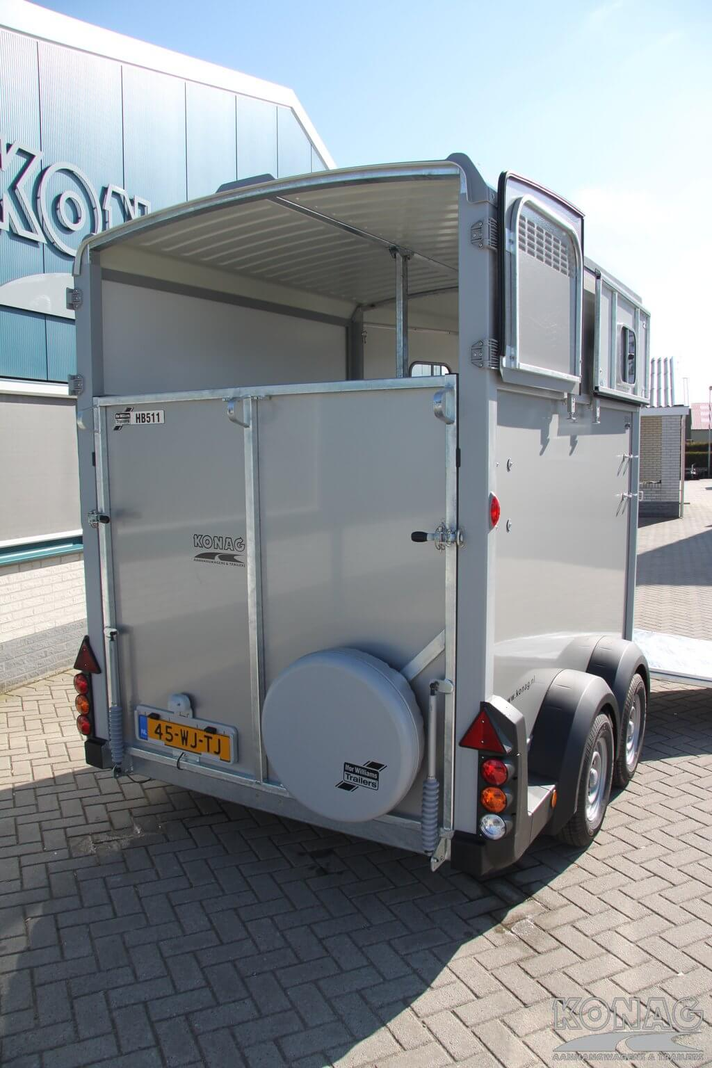 Ifor Williams HB511 paardentrailer achterzijde
