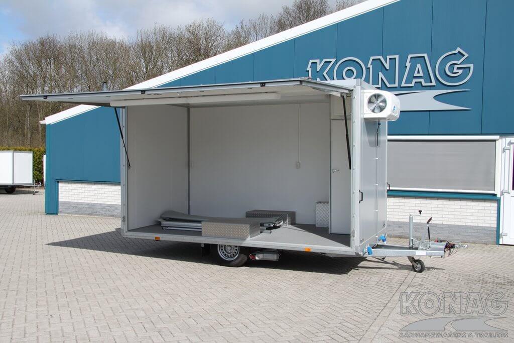 Konag bloemenaanhangwagen presentatiewagen