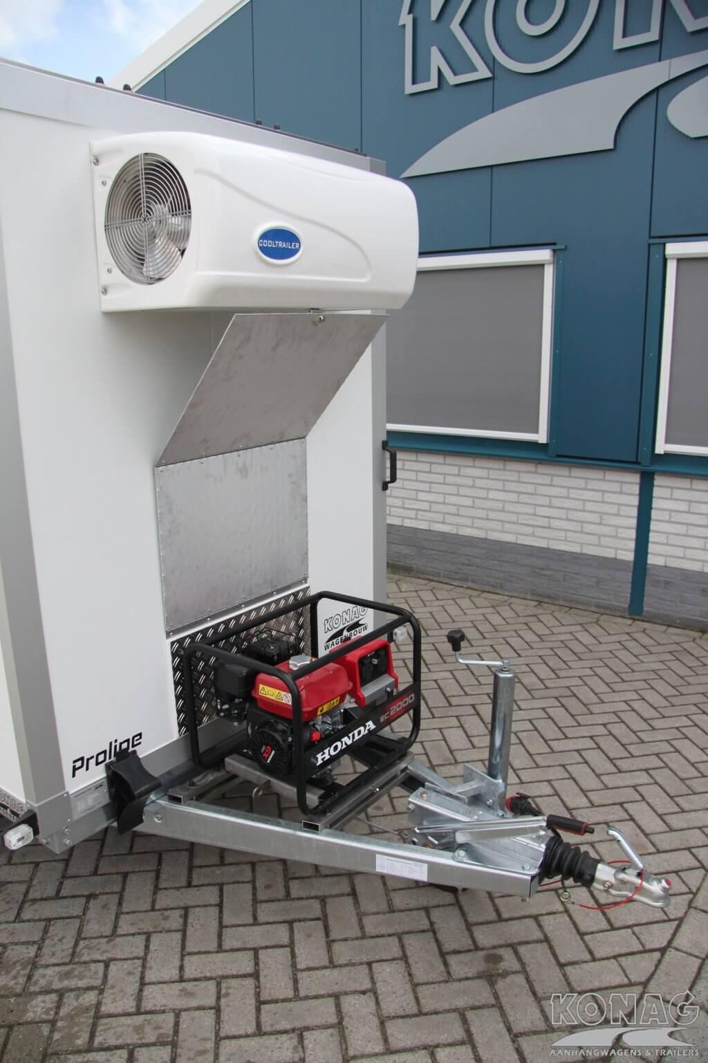 Konag koelaanhanger vleeshangsysteem met generator