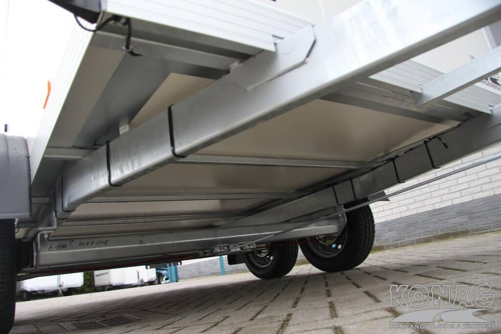 Konag vrieswagen 300x150x190 stevig chassis