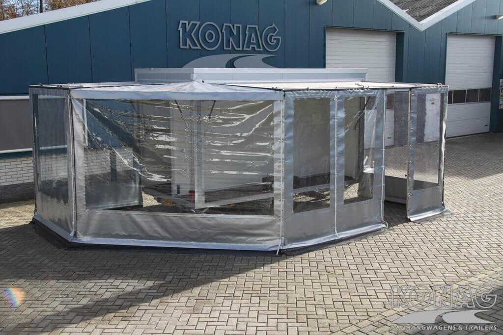 Konag bloemenaanhangwagen met zeilenopbouw