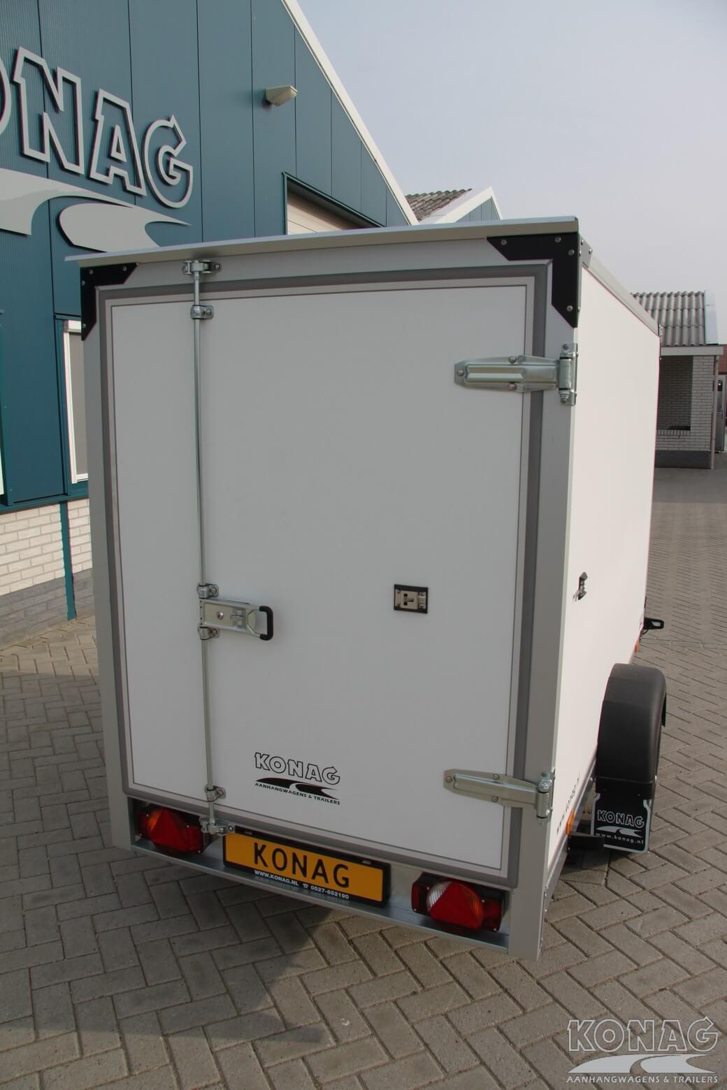 Proline enkelas gesloten aanhangwagen voorzien van grote deur