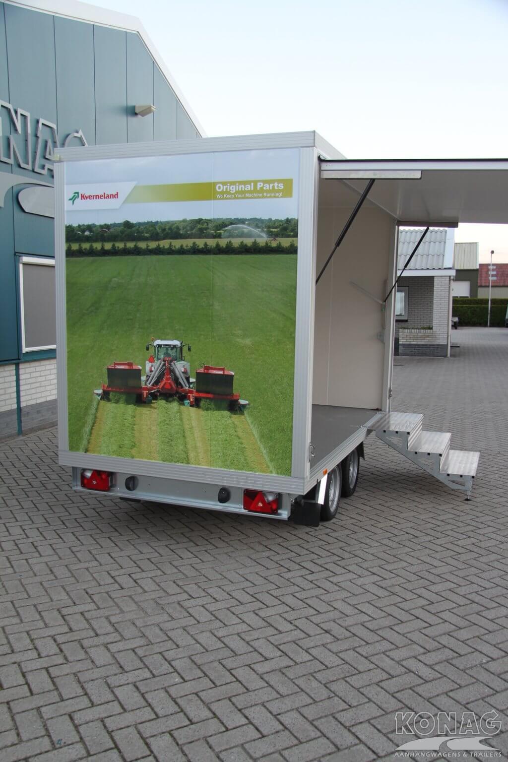 Konag beursaanhangwagen / presentatiewagen 305x175x210