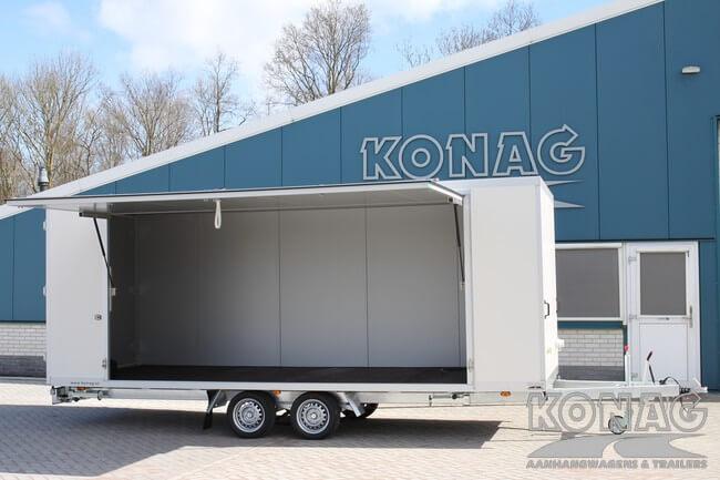 Konag presentatiewagen met verkoopklep
