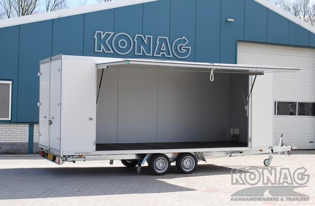 Konag presentatiewagen met verkoopklep achterzijde