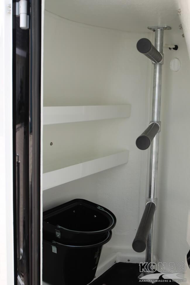Careliner tweepaardstrailer zwart zilver, zadelkamer XL