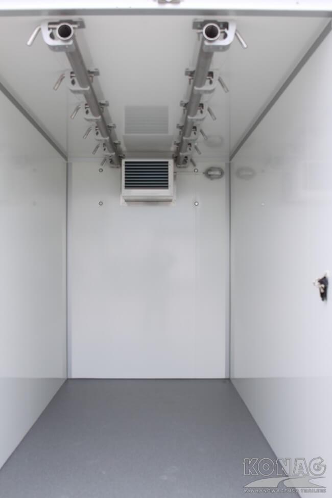 Koelwagen 300x150x200 vleeshangsysteem