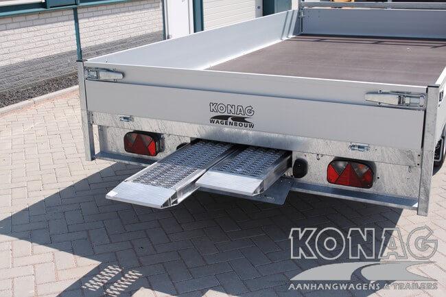 Proline plateauwagen 400x200 aluminium rijplaten