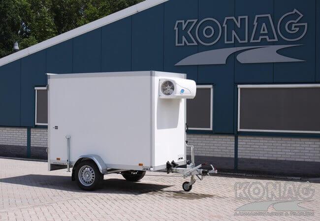 Koelaanhangwagen enkelas hoog model