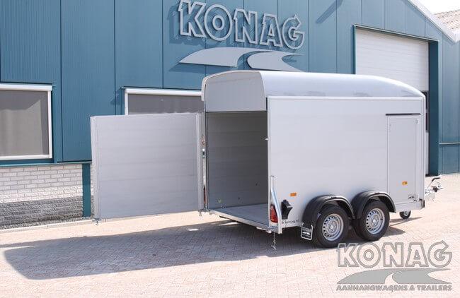 Bagagewagen met open deur en klep combinatie
