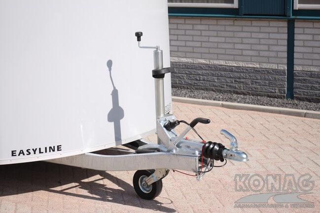 Verlaagd chassis van Easyline motor aanhangwagen