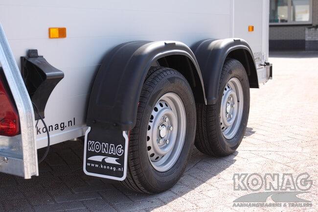 Bagagewagen Easyline dubbelasser met onafhankelijk geveerde assen