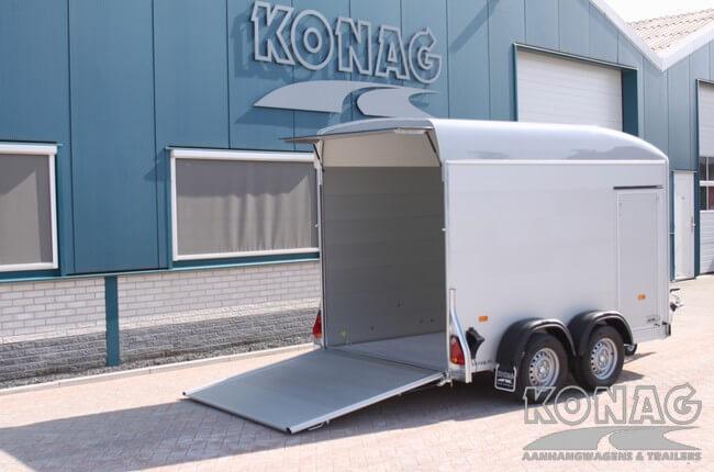 Oprijklep van Easyline poly XL bagagewagen