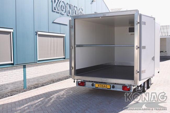 konag vriesaanhangwagen 336x205x190 ruime laadvloer