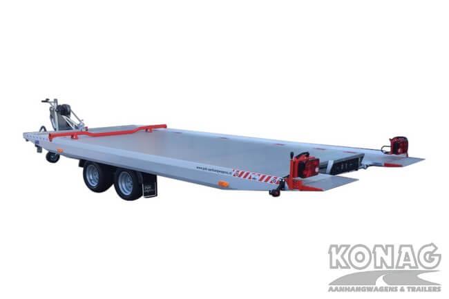 Proline autotransporter kantelbaar 450x209cm 2700kg achterkant