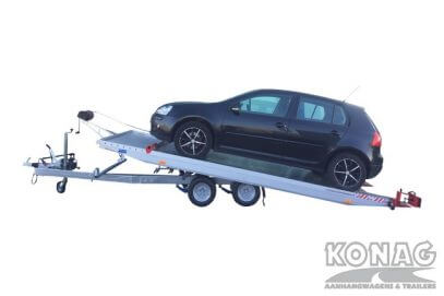Proline autotransporter kantelbaar 450x209cm 2700kg geladen omhoog