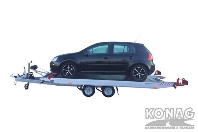 Proline autotransporter kantelbaar 450x209cm 2700kg geladen vlak