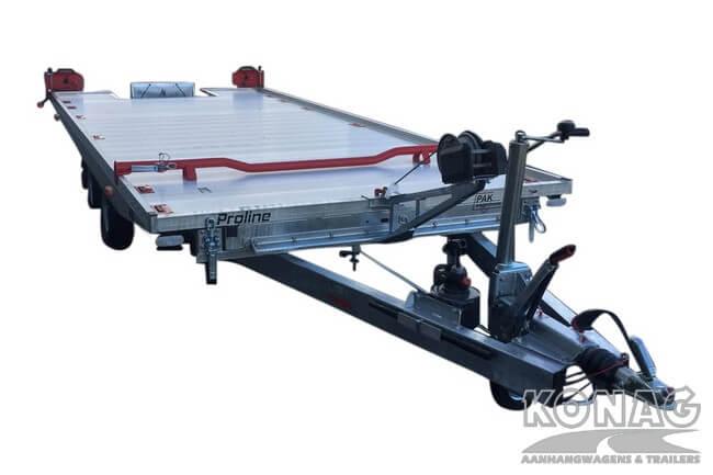 Proline autotransporter kantelbaar 450x209cm 2700kg voorkant