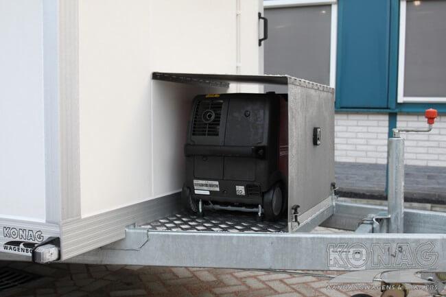 Vrieswagen enkelas met generator