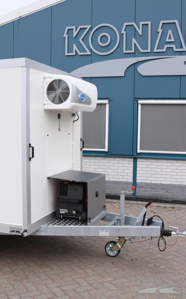 Vriesaanhangwagen met generator en afdekplaat