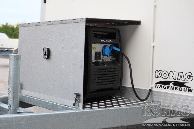 Vrieswagen enkelas 255x150x160 met generator