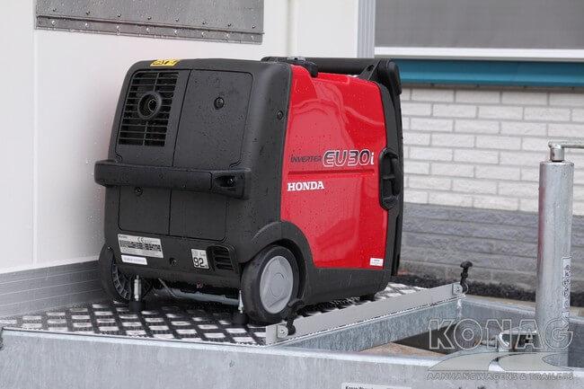 Vriesaanhangwagen enkelas met generator