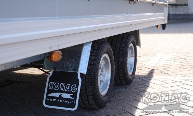 Bloemenwagen tandemas - Konag Aanhangwagens