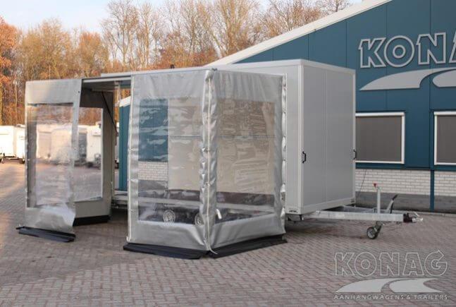 Bloemenwagen met zeilenopbouw - Konag Aanhangwagens