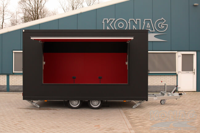 verkoopwagen 425x205x230 steunpoten uit Konag