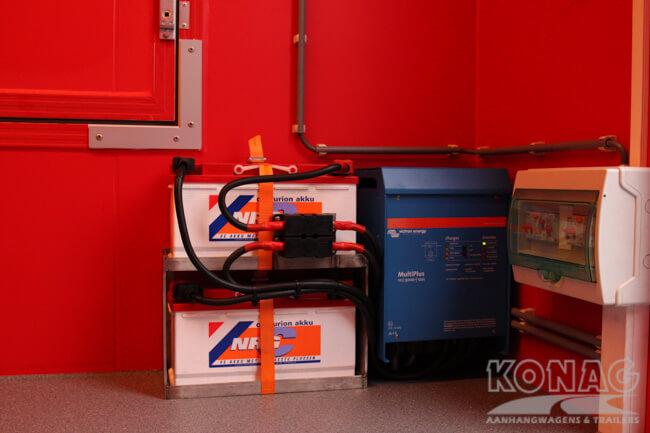 verkoopwagen 425x205x230 accupakket Konag Aanhangwagens