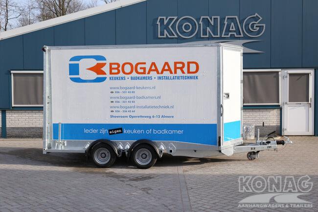 Ifor Williams Boxvan BV126G gesloten aanhangwagen met deur/klep combinatie