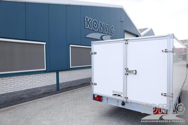 Konag gesloten lesaanhangwagen met deuren
