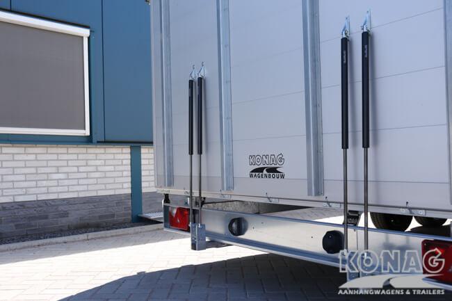 Konag gesloten plateauwagen 600x235x230