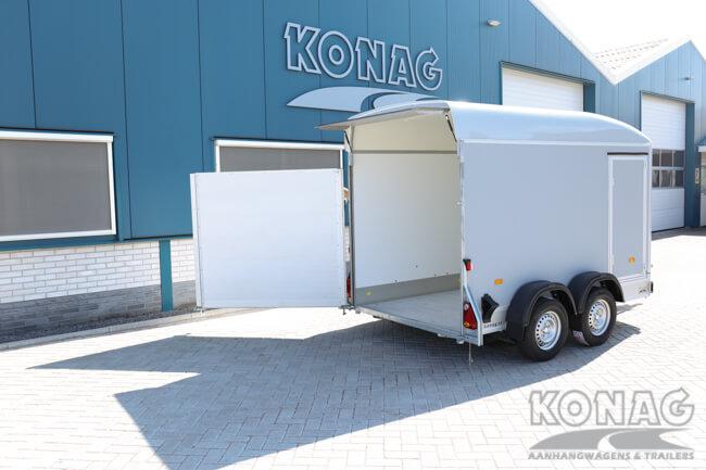 Easyline Poly XL gesloten aanhangwagen deur-klep combinatie